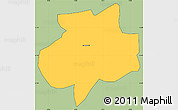 Savanna Style Simple Map of Andrelandia, cropped outside