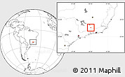 Blank Location Map of Arantina