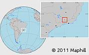 Gray Location Map of Arantina