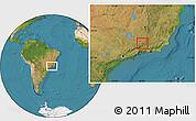 Satellite Location Map of Arantina