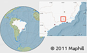 Savanna Style Location Map of Arantina, highlighted country, hill shading