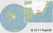 Savanna Style Location Map of Arantina, highlighted parent region, hill shading