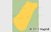 Savanna Style Simple Map of Arantina, single color outside