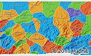 Political 3D Map of Baependi