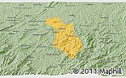 Savanna Style 3D Map of Baependi