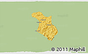 Savanna Style 3D Map of Baependi, single color outside