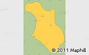 Savanna Style Simple Map of Baependi, cropped outside