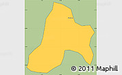 Savanna Style Simple Map of Bias Fortes, cropped outside