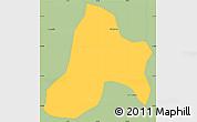 Savanna Style Simple Map of Bias Fortes