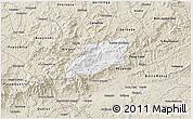 Classic Style 3D Map of Bocaina de Mina