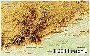 Physical 3D Map of Bocaina de Mina