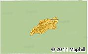 Savanna Style 3D Map of Bocaina de Mina, single color outside