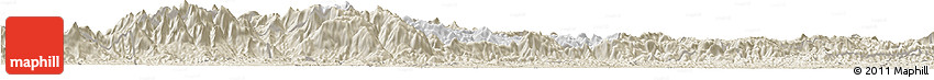 Classic Style Horizon Map of Bocaina De Mina