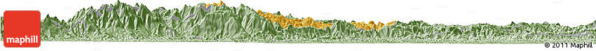Savanna Style Horizon Map of Bocaina De Mina