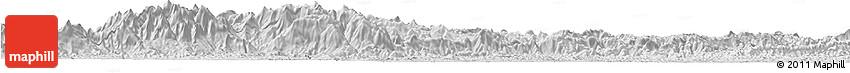 Silver Style Horizon Map of Bocaina De Mina