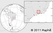 Blank Location Map of Bocaina de Mina, highlighted country