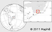 Blank Location Map of Bocaina de Mina, highlighted parent region