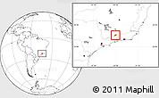 Blank Location Map of Bocaina de Mina