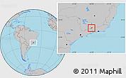 Gray Location Map of Bocaina de Mina