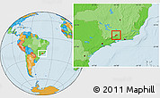 Political Location Map of Bocaina de Mina
