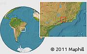Satellite Location Map of Bocaina de Mina