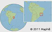 Savanna Style Location Map of Bocaina de Mina, within the entire country