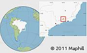 Savanna Style Location Map of Bocaina de Mina, highlighted country