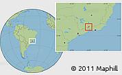 Savanna Style Location Map of Bocaina de Mina