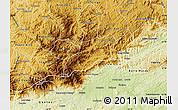 Physical Map of Bocaina de Mina