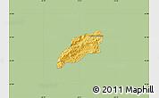 Savanna Style Map of Bocaina de Mina, single color outside