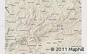 Shaded Relief Map of Bocaina de Mina