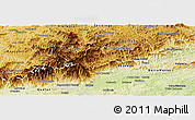 Physical Panoramic Map of Bocaina de Mina