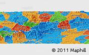 Political Panoramic Map of Bocaina de Mina