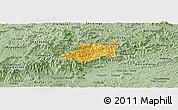 Savanna Style Panoramic Map of Bocaina de Mina