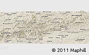 Shaded Relief Panoramic Map of Bocaina de Mina