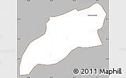 Gray Simple Map of Bocaina de Mina, cropped outside