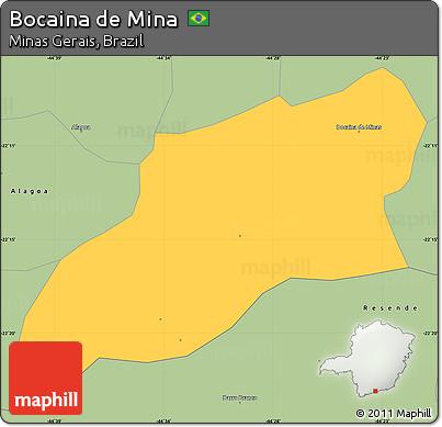Savanna Style Simple Map of Bocaina De Mina