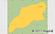 Savanna Style Simple Map of Bocaina de Mina, single color outside