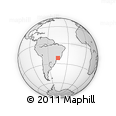 Outline Map of Cambuquira