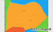 Political Simple Map of Cambuquira