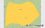 Savanna Style Simple Map of Cambuquira