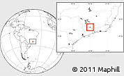 Blank Location Map of Carmo de Minas