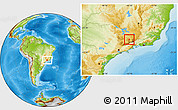 Physical Location Map of Carmo de Minas