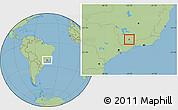 Savanna Style Location Map of Carmo de Minas