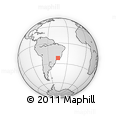 Outline Map of Carmo De Minas