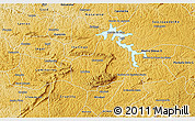 Physical 3D Map of Carrancas