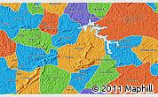 Political 3D Map of Carrancas