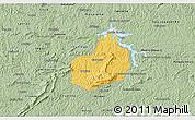 Savanna Style 3D Map of Carrancas