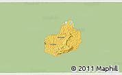 Savanna Style 3D Map of Carrancas, single color outside