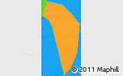 Political Simple Map of Caxambu